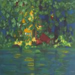 Meine Liebe am Waldsee / My love at the forest lake, 2015, Acryl auf Leinwand, 120 x 80 cm