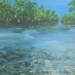 Unter der Oberfläche / Beneath the surface, 2011 Acryl auf Leinwand 180 x 200 cm