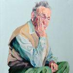 Janina C. Bruegel: Age II, 2018 (Die Narzissmus Epidemie / The Narcissism Epidemic) Acryl und Tusche auf Leinwand, 135 x 120 cm