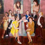 Janina C. Bruegel: Und haben sie nachts sich zusammengesellt; You look upon a disarray, 2015 (Menschen bei Nacht / People at Night) Acryl auf Leinwand, 115 x 125 cm