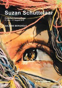 Ausstellungskatalog - Suzan Schuttelaar, Colorful Camouflage, 2019. Ausstellung von 17. Mai bis 17. August in der Galerie Berghout, Frankfurt am Main