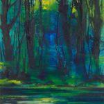 Bernd Zimmer, Reflexion über Kalt, 2018, Acryl auf Leinwand, 200 x 150 cm, WV 2663