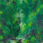 Bernd Zimmer, Ursprung II (Kristallwelt), 2012, Acryl auf Leinwand, 200 x 160 cm, WV 2332