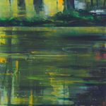 Bernd Zimmer, Spiegelwasser I, 2010, Acryl auf Leinwand, 110 x 90 cm, WV 2167