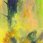 Bernd Zimmer, Nebel III (Blauer Baum), 2015, Acryl auf Leinwand, 110 x 90 cm, WV 2503