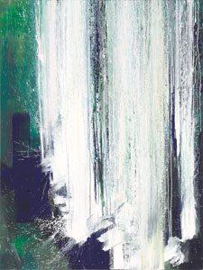Wassersturz III, 2011, Acryl auf Leinwand, 160 x 120 cm, WV 2261