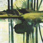 Bernd Zimmer, Wie ein Schatten, wie Wasser… , 2009, Acryl auf Leinwand, 120 x 100 cm, WV 2089