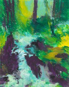 Bernd Zimmer - Pfad II, 2016, Acrylic on canvas, 95 x 75 cm, WV 2567