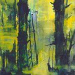Bernd Zimmer, Reflexion über Unwetter (Mai), 2015/18, Acryl auf Leinwand, 174 x 116 cm, WV 2661