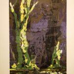 Bernd Zimmer, Reflexion, 2018, farbige Holzschnitt, 57 x 36 cm