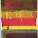Bernd Zimmer, Reflex, 2017, Acryl auf Papier, 42 x 29,5 cm, WV 2516