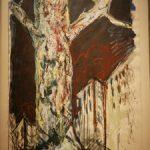 Bernd Zimmer, Stadtbaum, 1988, Acryl auf Papier, 100 x 70 cm