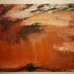 Bernd Zimmer, Himmel, 1991, Acryl auf Papier, 60 x 80 cm