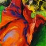 Bettina Mauel, Beflügelt [Tanz], 2018, Öl auf Leinwand, 155 x 110 cm