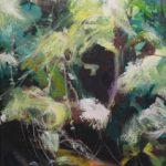 Bettina Mauel, Courant XII [Moorfluss], 1989, Öl auf Leinwand, 200 x 140 cm