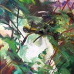 Bettina Mauel, Le Courant XI [Moorfluss], 1989, Öl auf Leinwand, 200 x 140 cm
