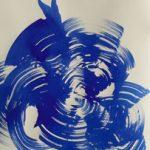 Bettina Mauel, Motion [Tanz], 2019, Tusche auf Büttenpapier, 78,5 x 53 cm