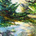 Bettina Mauel, Spiegelung [Weiden,] 2010, Öl auf Leinwand, 180 x 130 cm