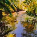 Bettina Mauel, Stilles Wasser, 2019, Öl auf Leinwand, 180 x 140 cm