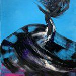 Bettina Mauel, Wild im Herzen III [Tanz], 2019, Öl auf Leinwand, 100 x 80 cm