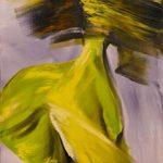Bettina Mauel, Wild im Herzen II [Tanz], 2019, Öl auf Leinwand, 100 x 70 cm
