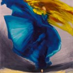 Wild im Herzen I [Tanz], 2019, Öl auf Leinwand, 100 x 80 cm