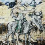 Bernd-Wolf Dettelbach, Eselreiter, 2012, Öl auf Leinwand, 150 x 120 cm