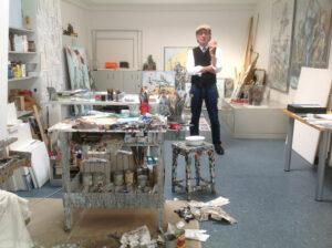 Bernd-Wolf Dettelbach im Atelier