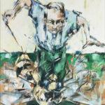 Bernd-Wolf Dettelbach, Wespenmann, 2019, Öl auf Leinwand, 80 x 70 cm