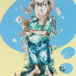 Bernd-Wolf Dettelbach, Helden und Mythen: Amor, 2019, Oil on canvas, 30 x 24 cm
