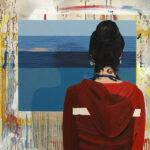 Markus Honerla, 2016, Atelier, 100 x 100 cm, lacquer and oil on canvas, € 3.000
