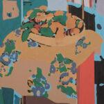 Markus Honerla, 2015, Les oranges de Matisse, 90 x 80 cm, lacquer on canvas, € 2.550