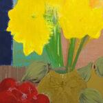 Markus Honerla, 2013, Narzissen, 200 x 160 cm, lacquer on canvas, € 5.400