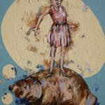 Bernd-Wolf Dettelbach, 2019, Venus, 30 x 24 cm, Öl auf Leinwand, € 795