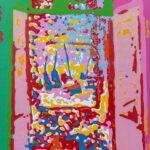 Markus Honerla, 2021, Fenêtre ouverte II, 175 x 140 cm, Lack auf Leinwand, € 6.200