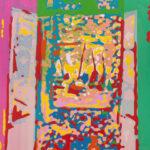 Markus Honerla, 2021, Fenêtre ouverte I, 175 x 140 cm, Lack auf Leinwand, € 6.200