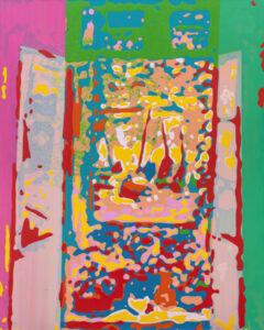 Markus Honerla, 2021, Fenetre ouverte, Lack auf Leinwand, 175 x 140 cm