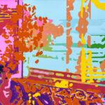 Markus Honerla, 2021, Fremde Pinsel II, 100 x 130 cm, Lack und Acryl auf Leinwand, € 4.600