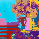 Markus Honerla, 2021, Fremde Pinsel I, 100 x 130 cm, Lack und Acryl auf Leinwand, € 4.600