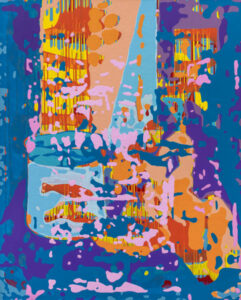 Markus Honerla, 2021, Les poissons rouges, 175 x 140 cm, lacquer and acrylic on canvas, € 6.200